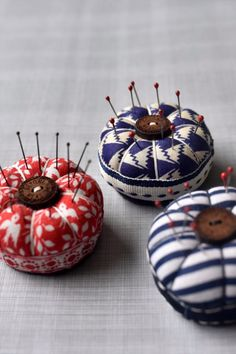 These tiny, cute pincushions have been created by Wychbury Designs exclusively for Beyond Measure. Measuring only 4 cm (approx) across, they are all hand-made in Yorkshire and really do make the most delightful little sewing companion! #BeyondMeasure #sewing #pincushion Mini Desk, Pincushions, Haberdashery, Yorkshire, Sewing, Create, Handmade, Dressmaking, Hand Made