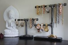 Industrial Chic 2 Tier Display by CaliLoversLife on Etsy
