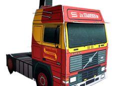 bouwplaatvanjeeigentruck_paper model_Volvo_F12_1993 Paper Models, Volvo, Paper Crafts, Van, Trucks, Paper Templates, Tissue Paper Crafts, Paper Craft Work, Vans