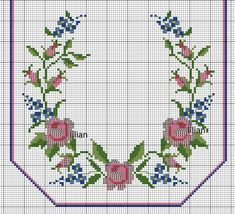 This post was discovered by Hülya Şen Yoğurtcu. Discover (and save!) your own Posts on Unirazi. Cross Stitch Rose, Cross Stitch Borders, Cross Stitch Flowers, Cross Stitch Charts, Cross Stitch Designs, Cross Stitch Patterns, Biscornu Cross Stitch, Cat Cross Stitches, Cross Stitching