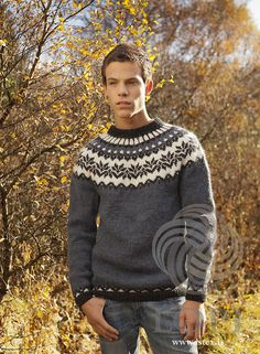 Ravelry: Afmæli - Anniversary Sweater pattern by Védís Jónsdóttir Fair Isle Knitting Patterns, Knitting Kits, Knitting Designs, Free Knitting, Sweater Patterns, Crochet Patterns, Nordic Sweater, Men Sweater, Fair Isle Pullover