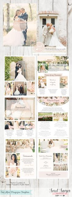 Ever After Wedding Photography Magazine Template for photography pricing and marketing