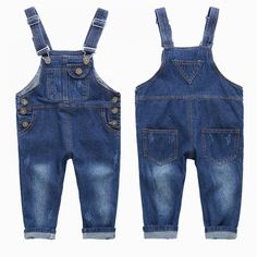 9b68d7af Cute Boy`s Denim Jumpsuits with White Wash