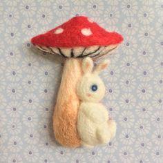 Rabbit / Sheep / Squirrel under Mushroom Umbrella by MeMeForest