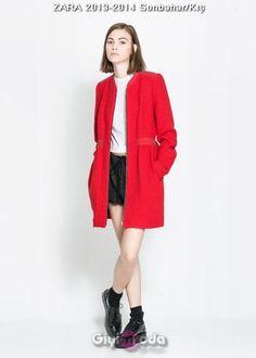 #zara 2014 red coat http://www.giyimvemoda.com/zara-2014-kis-modasinda-neler-var.html