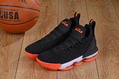 new concept f5ea5 47de8 High Quality Nike LeBron 16 Black Orange White Men s Basketball Shoes James  Shoes Lebron James 13