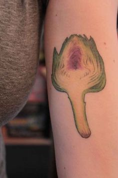 Artichoke tattoo. Because the heart is the best part.