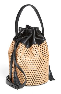 loeffler randall openwork leather bucket bag