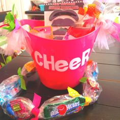 Cheer gift....Candy rope good idea for competition or treats for car ride home