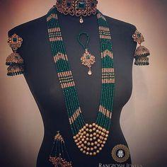 AARIYA BRIDAL SET Custom made in emerald green for our gorgeous bride Aisha