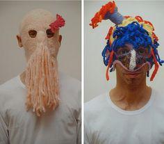 Aldo Lanzini's knit masks