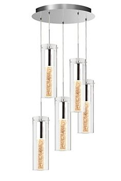 Quot Bubble Flow Quot Crystal Glass 5 Light Pendant Rona