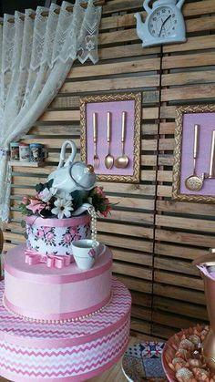 Bridal Shower Decorations, Ceremony Decorations, Debut Ideas, Bride Shower, Kitchen Shower, Tea Party Theme, Christmas Tea, Flower Backdrop, Party Props
