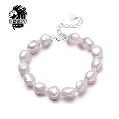 FENASY Fahsion Natural lrregular pearl Bracelets For Women  Wide Bracelets & Bangles Pulseras Mujer Jewelry pearl charm bracelet