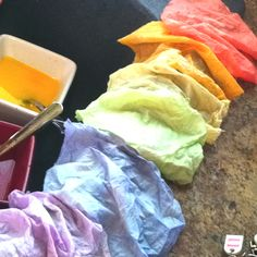 dye some fabric with leftover Easter egg dye!!