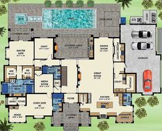 Every Bedroom gets a Private Bathroom - 31837DN | Florida, 1st Floor Master Suite, Butler Walk-in Pantry, CAD Available, Den-Office-Library-Study, Elevator, Loft, Media-Game-Home Theater, PDF, Corner Lot | Architectural Designs