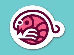Shrimpy Shrimp: Sticker Design Playoff by Cam Hoff