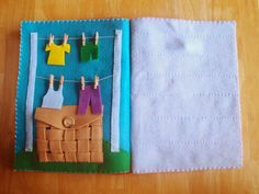 Recycled Felt Busy Book.