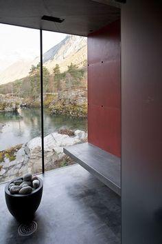 Juvet Landscape Hotel, Gudbrandsjuvet, Norway by JSA Jensen & Skodvin Architects