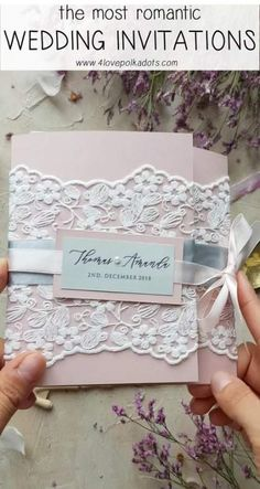 Wedding Gifts Wedding invitations with real lace Creative Wedding Invitations, Vintage Wedding Invitations, Wedding Invitation Wording, Diy Invitations, Elegant Wedding Invitations, Wedding Stationery, Invite, Wedding Cards Handmade, Wedding Day