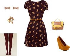 """""""Marroon Sparrow Dress"""" by clwagner on Polyvore"""