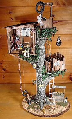 treehouse ideas - love to make this for Amelia Thimble. . .
