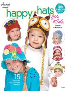 Boys and girls alike will be stepping out in style as well as warm and toasty when wearing one of these fashionable hats by Kristi Simpson. Some especially for girls, some just for boys and some unise