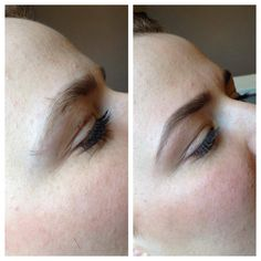 High Definition Brows before and after treatment.