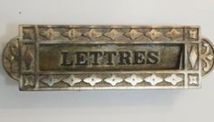 Antique French LETTRES  Mail Slot  Mail Box  Post by Decofanatique, $80.00