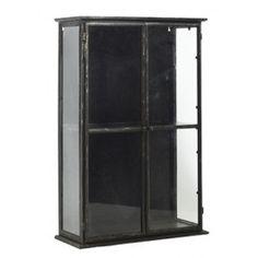 Nordal Downtown iron wallcabinet, black medium
