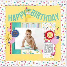 Lisa Dickinson Birthday Scrapbook Layouts, Scrapbook Cards, Scrapbooking, Happy June, Cake Smash Photos, Photo Look, Creative Cards, Mom And Dad, Cardmaking