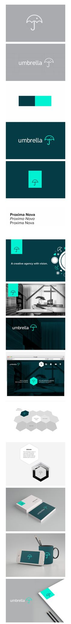 Cool Brand Identity Design on the Internet. Umbrella. #branding #brandidentity #identitydesign