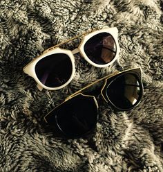 Chic black white sunglasses at my online shop SommerShop Marbella Spain www.tenesommer.com