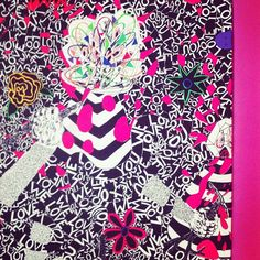 This wallpaper by Trenton Doyle Hancock is so killer! I can't visit @scadmoa without taking pic