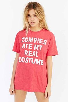 Zombies Ate My Costume Tee