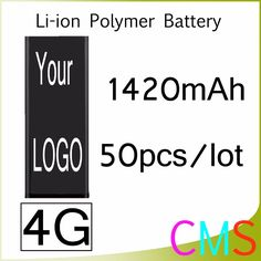 By Post 50pcs/lot Excellent Core 0 zero cycle Genuine Capacity Battery for iPhone 4 4G 1420mAh 3.7V Replacement Repair Parts