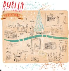 Dublin City Centre at Christmas by Oliver Jeffers