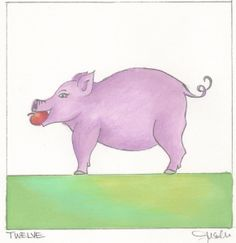"DAY 12-(1/12/13) This Spondylitis Apple its called ""Charlottle the Pig""   Here's a Funny Pig Poem:   Pigs are playful.  Pigs are pink.  Pigs are smarter  than you think.    Pigs are pudgy.  Pigs are plump.  Pigs can run  but never jump.    Pigs are loyal.  Pigs are true.  Pigs don't care  for barbecue.   hehehehe  #Enjoy #Repin #SpondyArtApple"