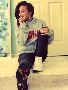 black girl swag | big sweater, biting finger, black girl, black jeans, cute - inspiring ...
