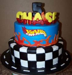 Example of Jace's cake, except NO BIG name on top just a 5! Can't wait!