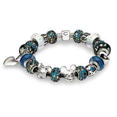 Blue and White Disney Leather Chamilia bracelet. <3Capri Jewelers