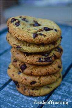 Soft and chewy dark chocolate chunk cookies...
