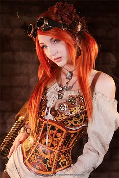 Clockwork bra, and corset!! awesome