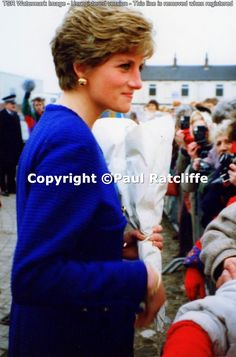 Diana visiting Hull, Yorkshire in February 1991