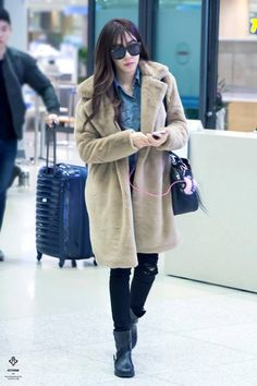 [151203] Tiffany at Incheon airport arrival from Hong Kong