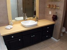How To Create A Custom Bamboo Countertop In A Bathroom
