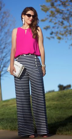 Teodora's Lookbook stripe pants Classic Outfits, Simple Outfits, Work Outfits, Spring Outfits, Casual Outfits, Stripe Pants, Dead Gorgeous, Everyday Outfits, Business Casual