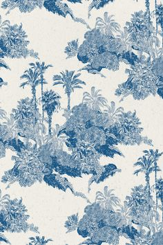 Toile Tropical Print