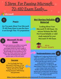 We have designed Installing and Configuring Windows Server 2012 Exam dumps for your Microsoft 70-410 exam. If you are searching for a trustworthy site which helps you to prepare your exam and make your success definite then congrats you got it.