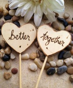 Wood Heart Cake Toppers Personalized Better by PrinceWhitaker, $16.99